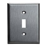 Over-Size Stainless Steel 1-Gang Toggle Wall Plate