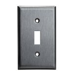 Stainless Steel 1-Gang Toggle Switch Metal Wall Plate