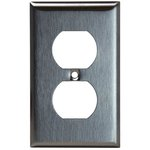 Stainless Steel 1-Gang Duplex Receptacle Metal Wall Plate