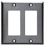Stainless Steel 2-Gang Decora Metal Wall Plate