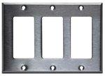 Stainless Steel 3-Gang Single GFCI Metal Wall Plate