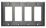 Stainless Steel 4-Gang Single GFCI Metal Wall Plate