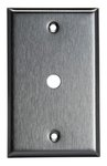 """Stainless Steel 0.406"""" 2-Gang Single Telephone/Cable Outlet Wall Plate"""