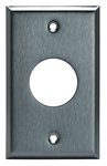 Stainless Steel 1-Gang Single 15 & 20A Straight Blade Receptacle Wall Plate