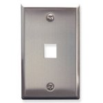 Over-Sized Stainless Steel Phone/Cable 1-Gang Outlet Wall Plate