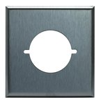 """Stainless Steel 2.125"""" 2-Gang Single Power Outlet Receptacle Wall Plate"""