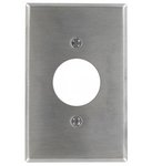 "Stainless Steel 0.620"" 1-Gang TL Single Receptacle Metal Wall Plate"