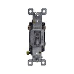 Clear Three-Way Push-In and Side Wired 15A Lighted Toggle Switches
