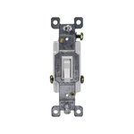 White Three-Way Push-In and Side Wired 15A Toggle Switches