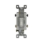 White Four-Way Push-In and Side Wired 15A Toggle Switches