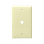 Ivory Telephone and CATV 1-Gang Phone and Cable Wall Jack Plate
