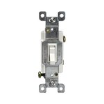 Almond Single-Pole Push-In and Side Wired 15A Toggle Switches