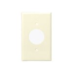 Light Almond 1-Gang Single Receptacle Straight Blade Plastic Wall Plate