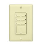 Ivory 4 Hour In-Wall Preset Timer Switch w/ Wall Plates