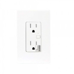 Z-Wave White Wireless 15A Tamper Resistant Duplex Receptacle