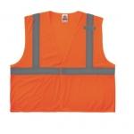 GloWear® 8210HL Type R Class Safety Vest, 4XL/5XL, Orange