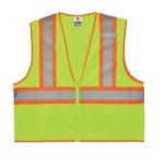 GloWear® 8229Z Type R Class Safety Vest, L/XL, Two-Tone, Lime