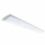 30W 4-ft LED Utility Wrap Light Fixture, 0-10V Dimming, 3330 lm, 3500K