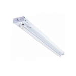 13W 4-ft LED Wide Body Strip Light Fixture, 1711 lm, 3000K