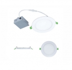 11W 4-in Round LED Slim Downlight, Dimmable, 750 lm, 120V, 3000K-5000K