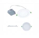 11W 4-in Round LED Slim Downlight, Dimmable, 750 lm, 120V-277V, 3000K-5000K