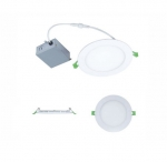 14W 6-in Round LED Slim Downlight, Dimmable, 1000 lm, 120V, 3000K-5000K