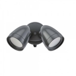 20W 2-Head LED Security Light, Bronze