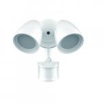 20W Security Light w/ Motion Sensor, White, Dual Head, 4000K