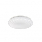 22W 15 Inch Round LED Flush Mount Ceiling Fixture, Dimmable, 4000K