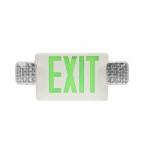 2W LED Exit Sign w/ Emergency Light, Green, 6500K