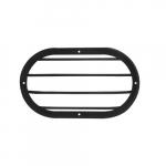 "10"" Shorebreaker Outdoor Decorative Light Guard, Oval, Black"