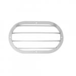 """10"""" Shorebreaker Outdoor Decorative Light Guard, Oval, White"""