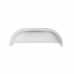 """10"""" Shorebreaker Outdoor Decorative Light Guard, Half Oval, White"""