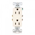 15 Amp NEMA 5-15R Duplex Decorator Receptacle Outlet, Light Almond