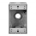 1-Gang FS Electrical Box, 4 Holes, Weatherproof, Cast Aluminum