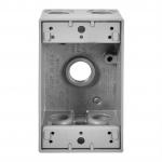 1-Gang FS Electrical Box, 5 Holes, Weatherproof, Cast Aluminum