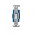 15 Amp Toggle Switch, Single-Pole, #14-10 AWG, 120-277V, Almond