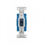 15 Amp Toggle Switch, Single-Pole, #14-10 AWG, 120-277V, Black
