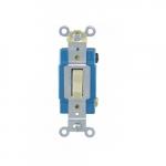 15 Amp Toggle Switch, Single-Pole, #14-10 AWG, 120-277V, Ivory