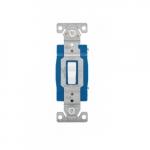15 Amp Toggle Switch, Single-Pole, #14-10 AWG, 120-277V, White