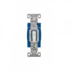 15 Amp 3-Way Toggle Switch, Single-Pole, #14-10 AWG, 120-277V, Almond