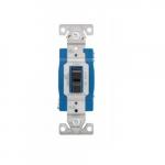 15 Amp 3-Way Toggle Switch, Single-Pole, #14-10 AWG, 120-277V, Black