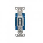 15 Amp 3-Way Toggle Switch, Single-Pole, #14-10 AWG, 120-277V, Gray