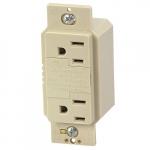 15 Amp NEMA 5-15R SurgeBlox Surge Protection Receptacle w/ Alarm, Ivory