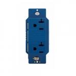 20 Amp NEMA 5-20R Surge Protector w/ Alarm, Blue