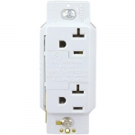 20 Amp NEMA 5-20R SurgeBlox Surge Protection Receptacle w/ Alarm, White