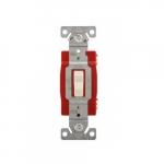 20 Amp Single-Pole Toggle Switch, #14-10 AWG, 120-277V, Almond