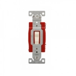 20 Amp 3-Way Toggle Switch, #14-10 AWG, 120-277V, Almond