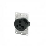30 Amp Power Receptacle, NEMA 5-30, Brown