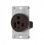 50 Amp Power Receptacle, NEMA 6-50R, Black